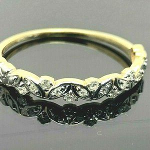 Wedding Band 1/10 ctw Diamonds 10k Gold Ring SZ 9